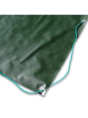 Copertura invernale 8 x 13,5 m per piscina 6 x 12 m - completo di borchie ed elastico
