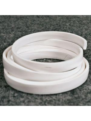 Fettuccina / bordino pvc bianco da termosaldare - prezzo al m lineare