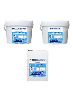Kit Winter 30 kg: 10 kg Diklor + 10 kg Ph Minus + 10 lt Winter Algastop