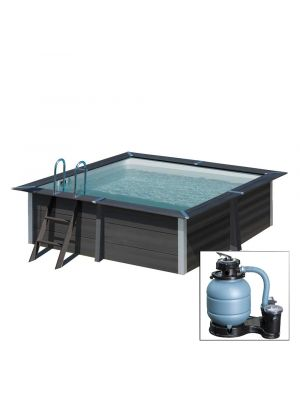 AVANTGARDE 280 X 280 X h94 cm - filtro a sabbia - piscina fuoriterra in materiale composito