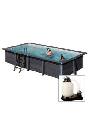 AVANTGARDE 606 x 326 x h124 cm - filtro a sabbia - piscina fuoriterra in materiale composito