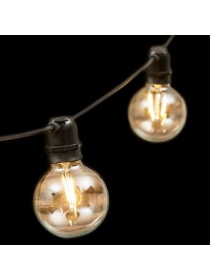 Catena 8 m, 10 lampadine e27 ø8 cm, prolungabile, led bianco caldo