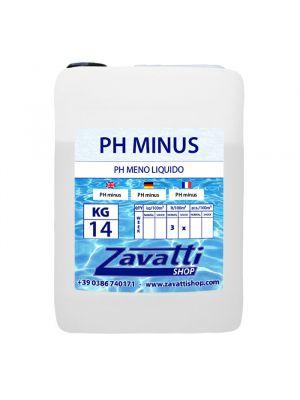 14 Lt PH minus - riduttore PH liquido per dosatori automatici piscine