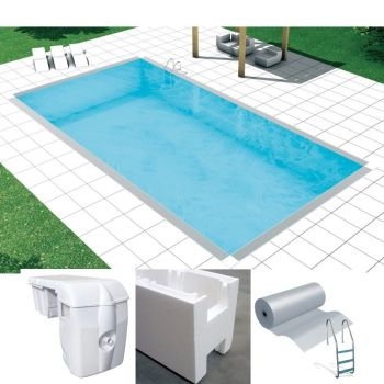Kit piscina Saturno 3 x 6, Easykit casseri Basic, Skimmer