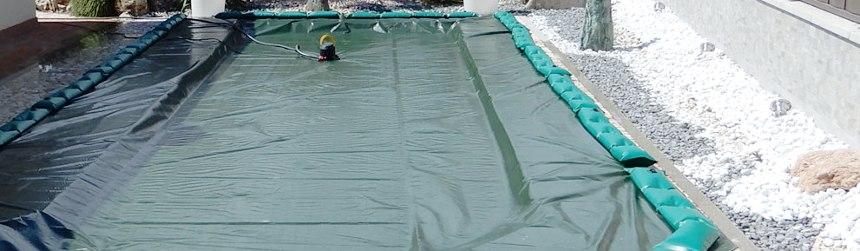 Coperture invernali antivento ed antiribaltamento per piscine interrate