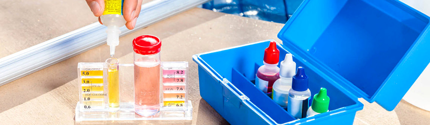 test-kit per piscina
