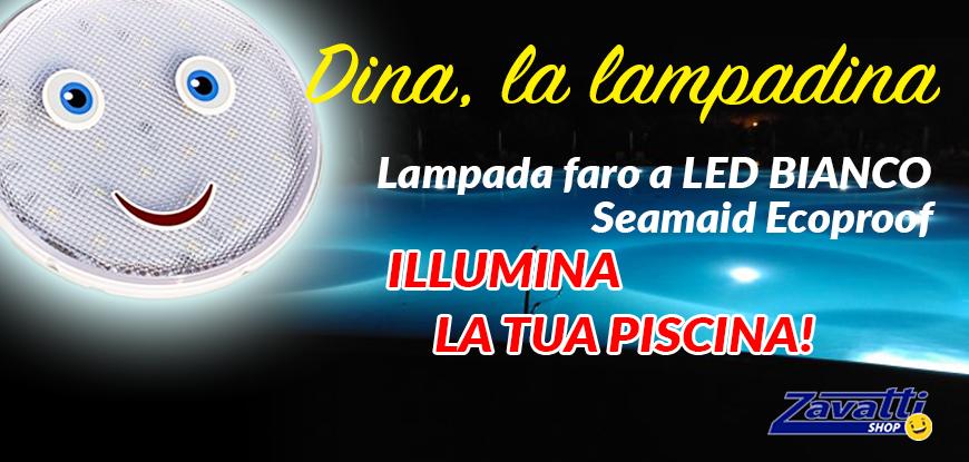 Lampade a led per piscina Seamaid Linea Smile