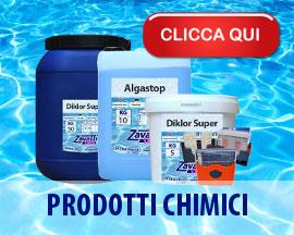 Prodotti chimici per trattamento acqua piscina