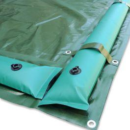 Copertura invernale per piscina 9 x 18 m con tubolari e for Copertura invernale piscina gre
