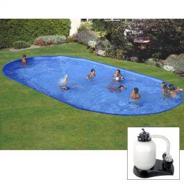 Piscina da interrare 500 x 300 x h 150 cm filtro sabbia for Interrare piscina
