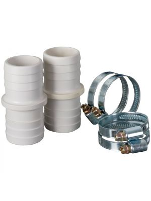 Kit 2 Raccordi + 4 Fascette ø 38 mm per canna galleggiante piscina