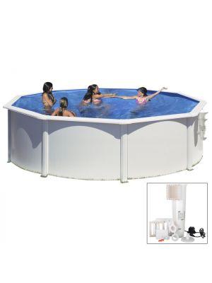 AZORES - Ø 460 x h132 cm - filtro CARTUCCIA - piscina fuoriterra rigida in acciaio colore bianco Dream Pool - Grè