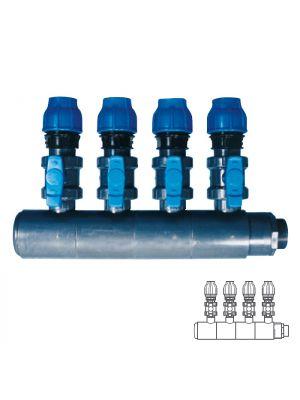 Collettore modulare in PVC - PN10 Ø 140 4XØ1 1/2