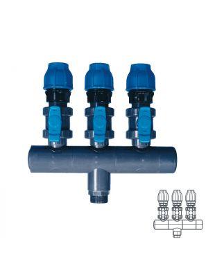 Collettore modulare in PVC - PN16 Ø 90 3XØ1 1/2