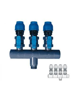 Collettore modulare in PVC - PN16 Ø 90 4XØ1 1/2