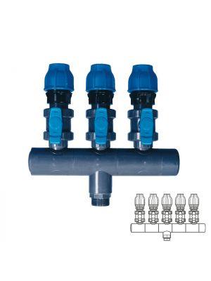 Collettore modulare in PVC - PN16 Ø 90 5XØ1 1/2