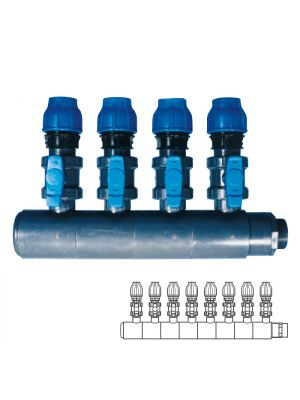 Collettore modulare in PVC - PN10 Ø 140 8XØ1 1/2