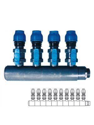 Collettore modulare in PVC - PN10 Ø 140 10XØ1 1/2
