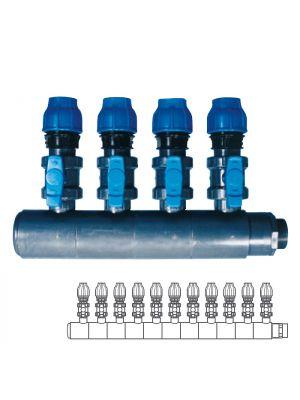 Collettore modulare in PVC - PN10 Ø 140 11XØ1 1/2
