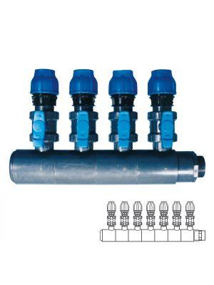 Collettore modulare in PVC - PN10 Ø 140 7XØ1 1/2