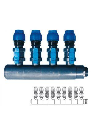 Collettore modulare in PVC - PN10 Ø 140 9XØ1 1/2