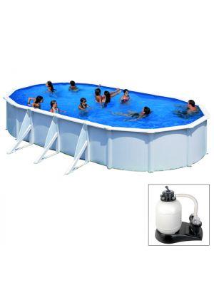 FIDJI - 730 x 375 x h120 cm - filtro SABBIA - piscina fuoriterra rigida in acciaio colore bianco Dream Pool - Grè