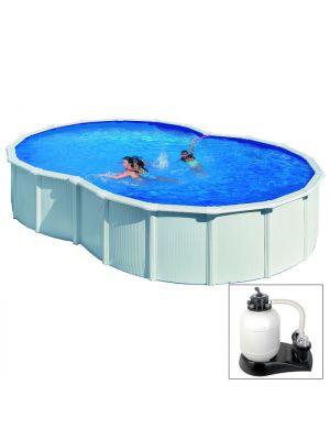 Copertura invernale 4 stagioni ottagonale 6 x 4 m per for Copertura invernale piscina gre