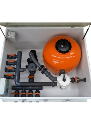Locale tecnico con impianto completo per piscina da 33 mc/h pompa DAB EUROPRO 150 1,5 HP