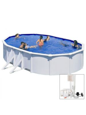 BORA BORA - 500 x 300 x h120 cm - filtro CARTUCCIA - Piscina fuoriterra rigida in acciaio colore bianco Dream Pool - Grè