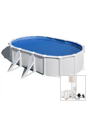 AZORES - 500 x 300 x h132 cm - filtro CARTUCCIA - piscina fuoriterra rigida in acciaio colore bianco Dream Pool - Grè
