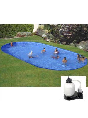 Piscina da interrare 800 x 400 x h 150 cm - filtro SABBIA - rigida in acciaio In Ground Pool - Grè
