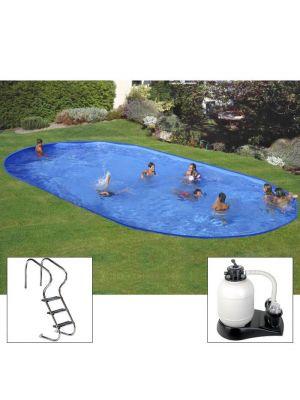 Piscina PLUS da interrare 500 x 300 x h 150 - filtro SABBIA - rigida in acciaio In Ground Pool - Grè