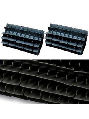 Maytronics 6101628 - Kit 2 pezzi spazzola in pvc corta nera di ricambio per robot Dolphin