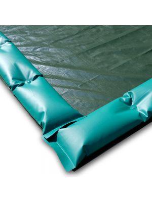 Telo invernale 13 X 7 con tubolari antivento antiribaltamento ad appoggio - per piscina 12 X 6