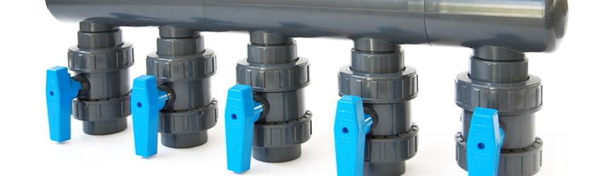 collettori per impianto filtrazione piscina
