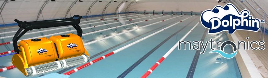 robot pulitori automatici Dolphin per piscine olimpioniche