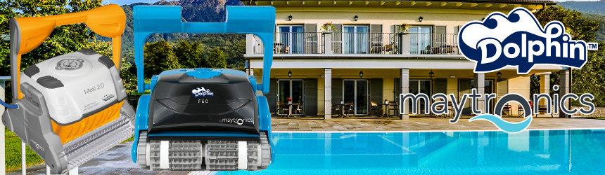 robot pulitori elettrici Dolphin Maytronics per piscine residenziali
